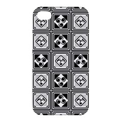 Black And White Apple iPhone 4/4S Premium Hardshell Case
