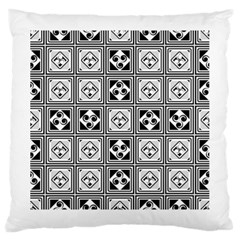 Black And White Large Cushion Case (One Side)
