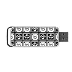 Black And White Portable USB Flash (One Side)
