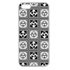 Black And White Apple Seamless iPhone 5 Case (Clear)