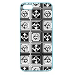 Black And White Apple Seamless iPhone 5 Case (Color)