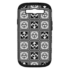 Black And White Samsung Galaxy S III Hardshell Case (PC+Silicone)