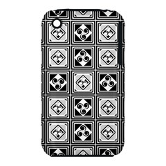 Black And White Apple iPhone 3G/3GS Hardshell Case (PC+Silicone)
