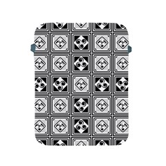 Black And White Apple iPad 2/3/4 Protective Soft Cases