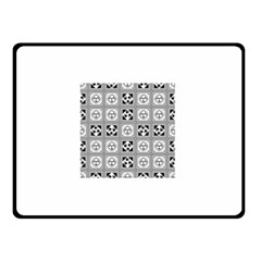 Black And White Double Sided Fleece Blanket (small)