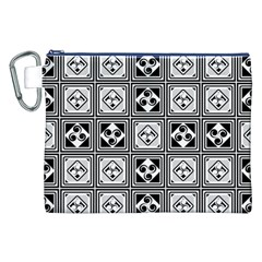 Black And White Canvas Cosmetic Bag (XXL)