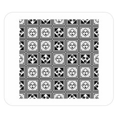 Black And White Double Sided Flano Blanket (small)