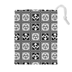 Black And White Drawstring Pouches (extra Large)