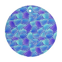 Blue And Purple Glowing Ornament (Round)