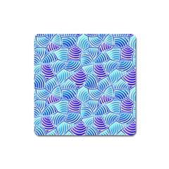 Blue And Purple Glowing Square Magnet