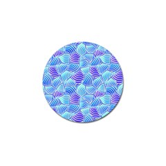 Blue And Purple Glowing Golf Ball Marker