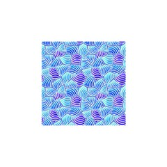 Blue And Purple Glowing Shower Curtain 48  x 72  (Small)