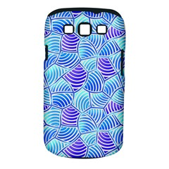 Blue And Purple Glowing Samsung Galaxy S III Classic Hardshell Case (PC+Silicone)