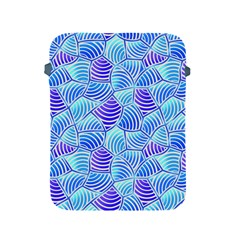 Blue And Purple Glowing Apple Ipad 2/3/4 Protective Soft Cases
