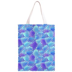 Blue And Purple Glowing Classic Light Tote Bag