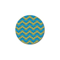 Blue And Yellow Golf Ball Marker (10 pack)