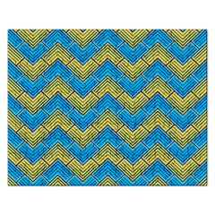 Blue And Yellow Rectangular Jigsaw Puzzl