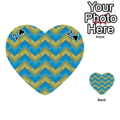 Blue And Yellow Playing Cards 54 (heart)