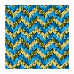 Blue And Yellow Medium Glasses Cloth