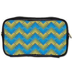 Blue And Yellow Toiletries Bags 2-Side