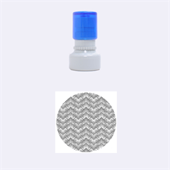 Blue And Yellow Rubber Round Stamps (Small)