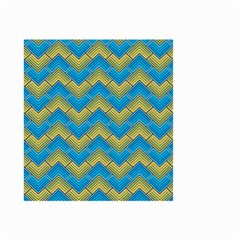 Blue And Yellow Small Garden Flag (Two Sides)