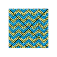 Blue And Yellow Acrylic Tangram Puzzle (4  X 4 )