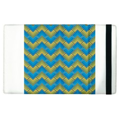 Blue And Yellow Apple iPad 3/4 Flip Case