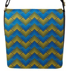 Blue And Yellow Flap Messenger Bag (s)