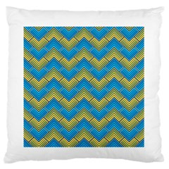 Blue And Yellow Standard Flano Cushion Case (Two Sides)