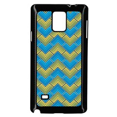 Blue And Yellow Samsung Galaxy Note 4 Case (Black)