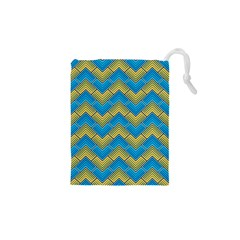 Blue And Yellow Drawstring Pouches (XS)