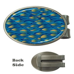Blue Waves Money Clips (Oval)