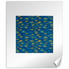 Blue Waves Canvas 20  x 24