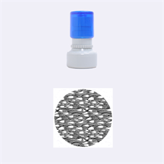 Blue Waves Rubber Round Stamps (Small)