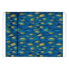 Blue Waves Samsung Galaxy Tab 10 1  P7500 Flip Case