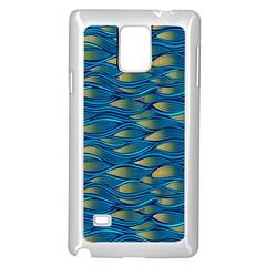 Blue Waves Samsung Galaxy Note 4 Case (White)