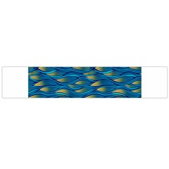 Blue Waves Flano Scarf (Large)