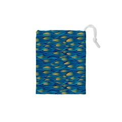 Blue Waves Drawstring Pouches (xs)