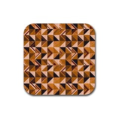 Brown Tiles Rubber Coaster (Square)