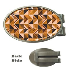 Brown Tiles Money Clips (Oval)