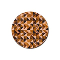 Brown Tiles Rubber Round Coaster (4 Pack)