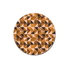 Brown Tiles Magnet 3  (Round)