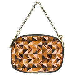 Brown Tiles Chain Purses (two Sides)