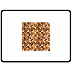 Brown Tiles Fleece Blanket (large)
