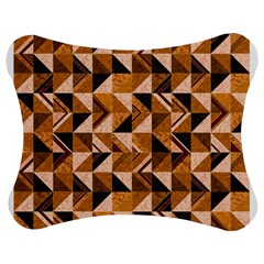 Brown Tiles Jigsaw Puzzle Photo Stand (Bow)