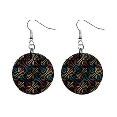 Glowing Abstract Mini Button Earrings