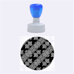 Glowing Abstract Rubber Round Stamps (Medium)
