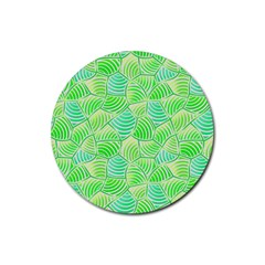 Green Glowing Rubber Coaster (round)