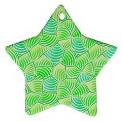 Green Glowing Star Ornament (Two Sides)